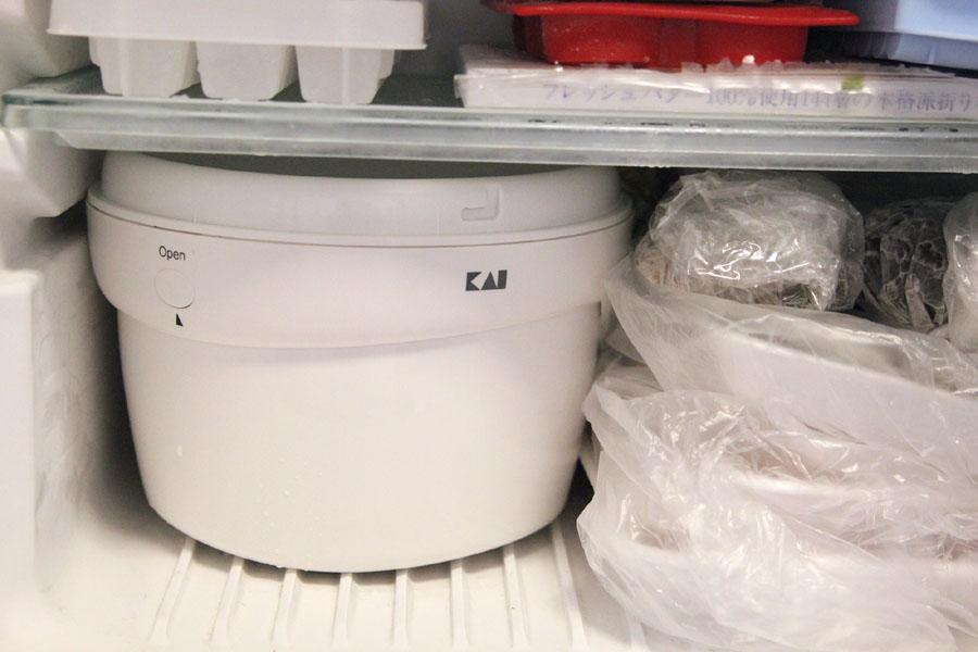 冷凍庫にうまく収まるかどうかが鍵になる