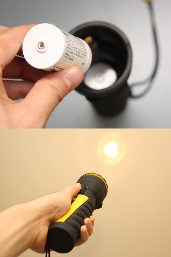 単一形は懐中電灯の電源として。昔はラジカセの電源として活躍の機会が多かった