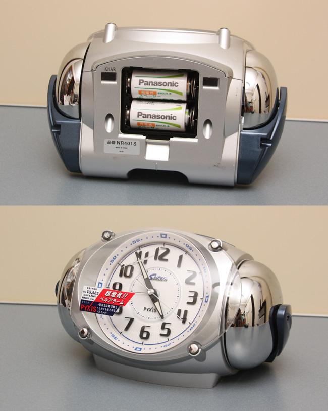 単二形を使用することが多い目覚まし時計にも使用できる