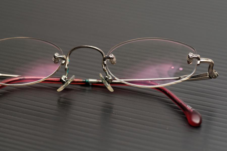 「泡々」させたあとのメガネは、とってもキレイである