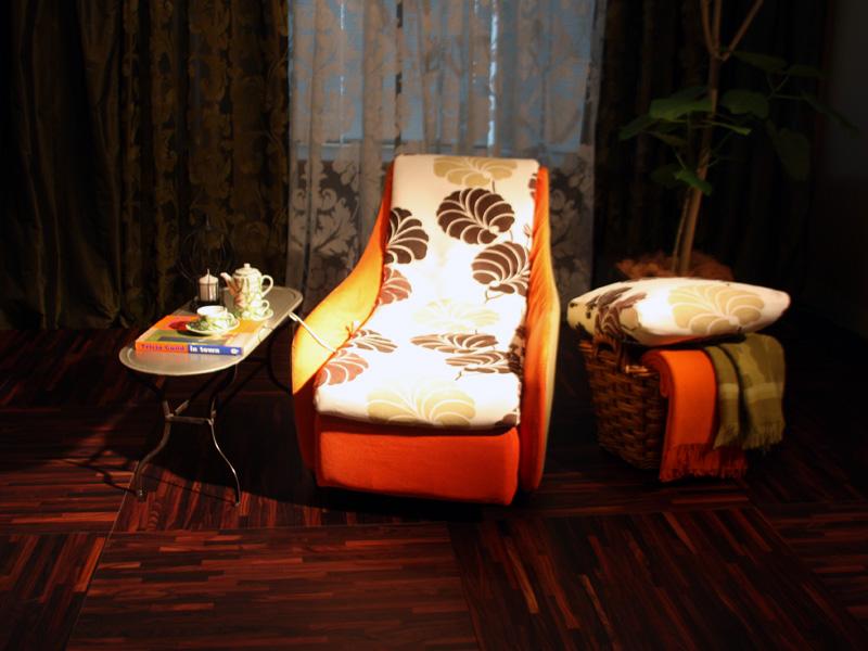 発表会では、実際の部屋をイメージした展示も用意された。写真はマンハッタン