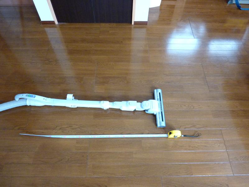 通常の本体パイプの状態(100cm)
