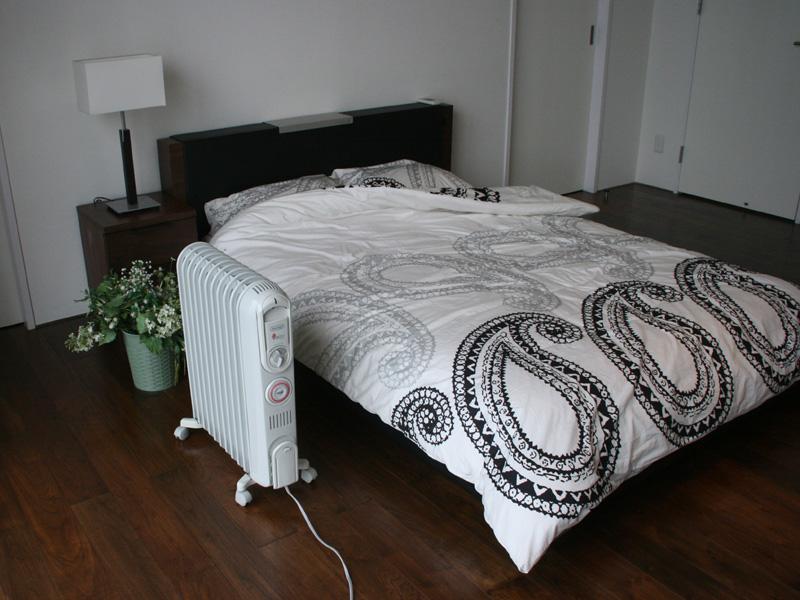 寝室での使用例
