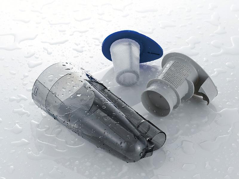 ダストボックスとフィルターは水洗いに対応する