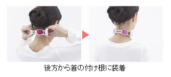ネックリフレは首の付け根部分に装着する