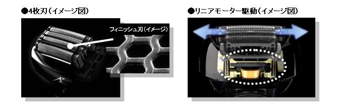 基本的な機能は従来モデルと同じ。4枚刃やリニアモーター駆動も備える