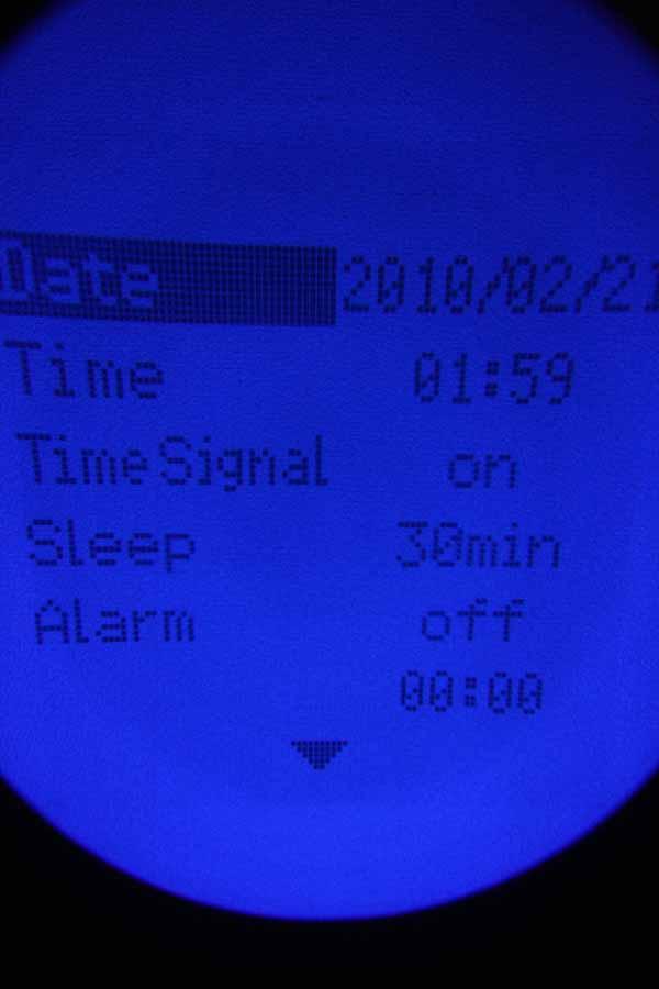 日時やアラームの設定、オートパワーオフ(Sleep)までの時間なども設定可能