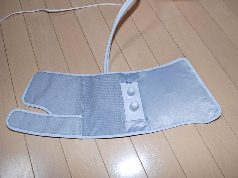 足裏マッサージ用の突起パッドを装着したところ