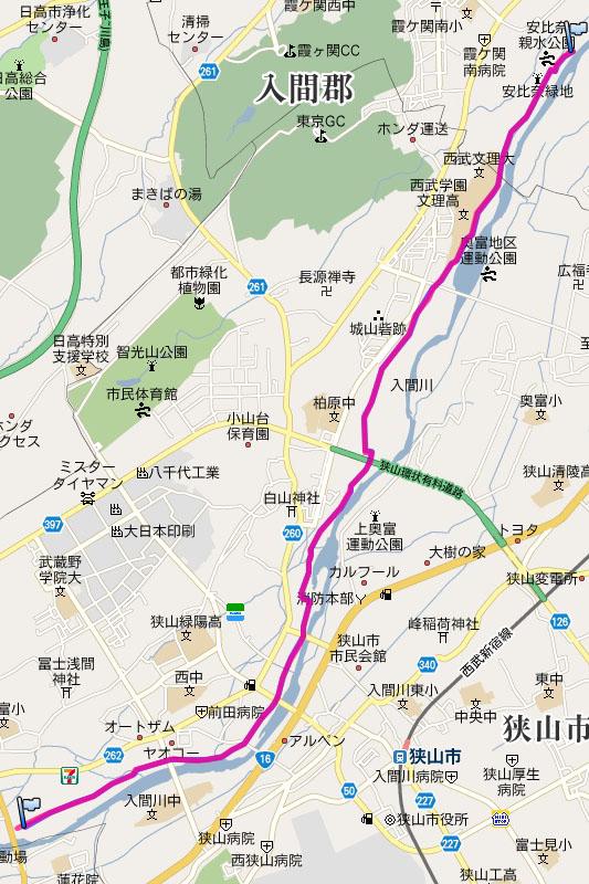こんなルートを走行した。往路の平均速度は約20km/hで、走行時間は約22分。復路の平均時速は約17km/hで、走行時間は26分だった
