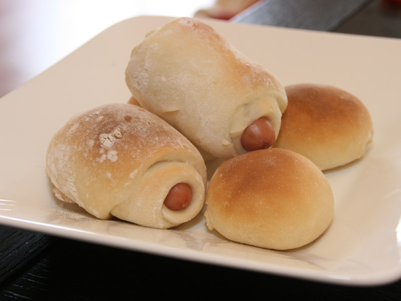 ソーセージパンもおいしく仕上がった
