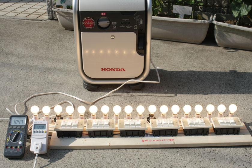 900Wを超え、989Wまで消費電力を上げてみたが、エネポの過負荷警告灯は点灯しなかった