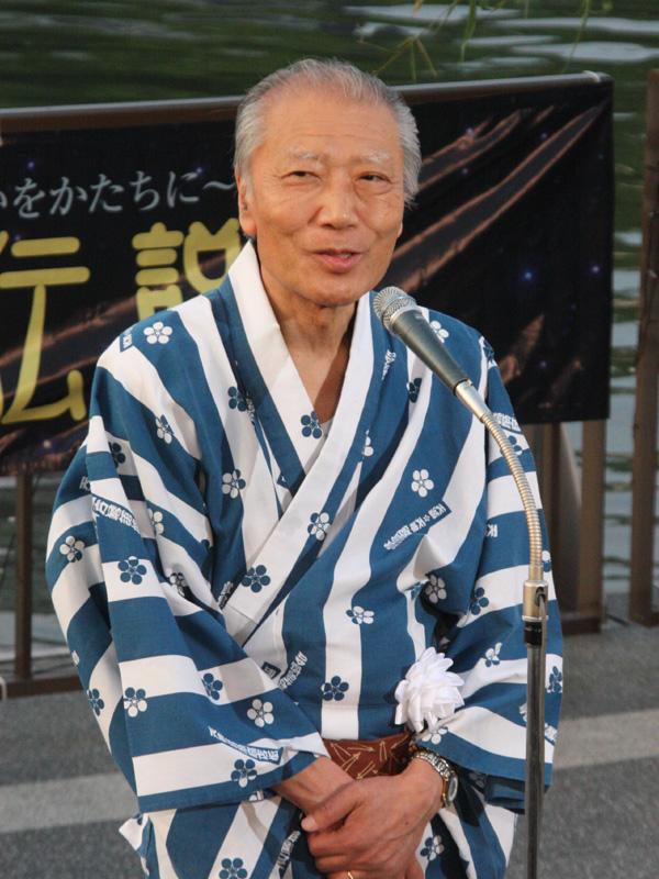 平成OSAKA天の川伝説2010運営委員会 会長の土居年樹氏
