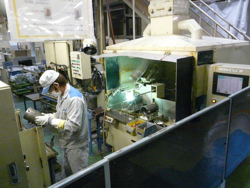 熱交換器のパイプの加工工程