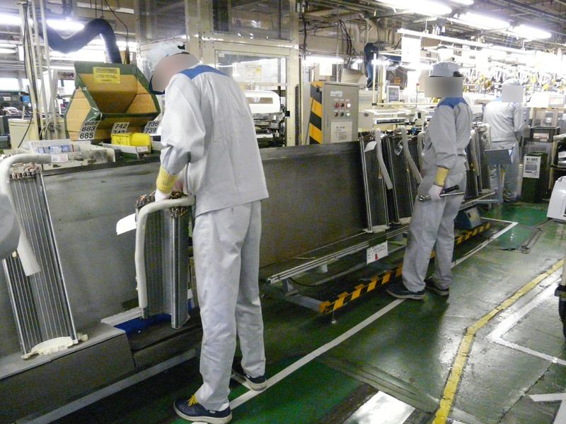 熱交換器の組立工程