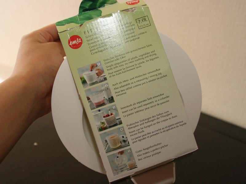 パッケージにも、サラダスピナー以外の使い方がいくつも紹介されている