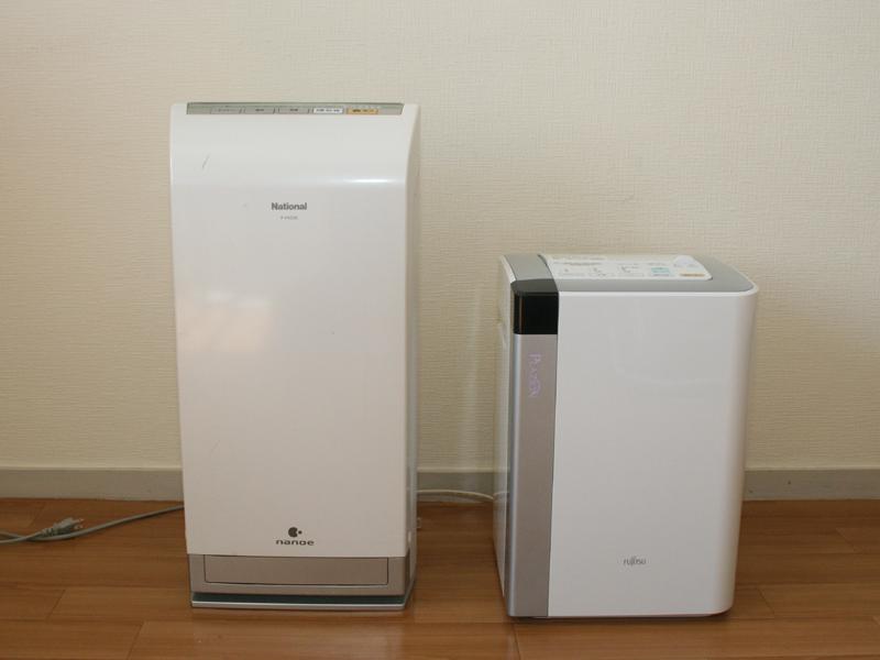 自宅にあったナショナル(現パナソニック)の空気清浄機と比べたところ