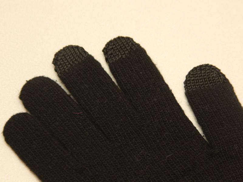 よく見ると、親指・人差し指・中指の先端だけ繊維が違っているのが分かる