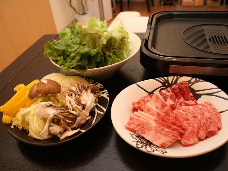 今回用意した肉と野菜