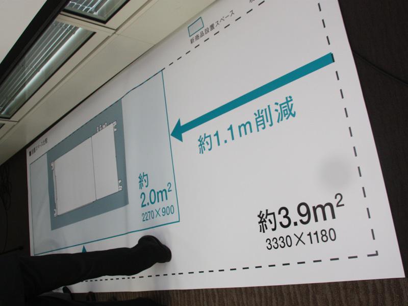 設置面積は約2平方m。従来モデルの約半分という