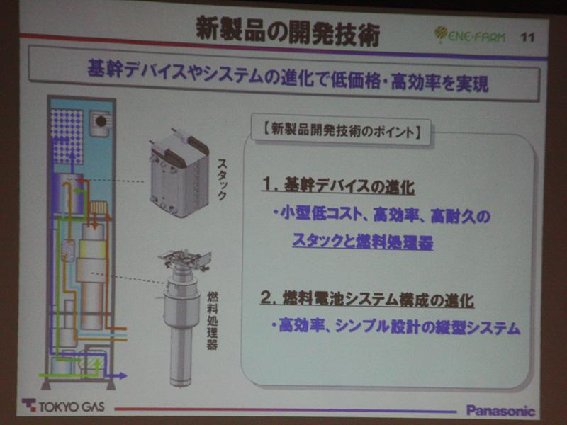 新モデルでは基幹デバイスと燃料電池システムの2つの構成が進化した