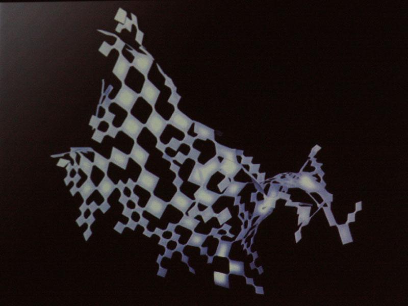 デザインコンペ「カネカ OLEDデザインコンペティション2010」で大賞に選ばれた「Pieces of Light」