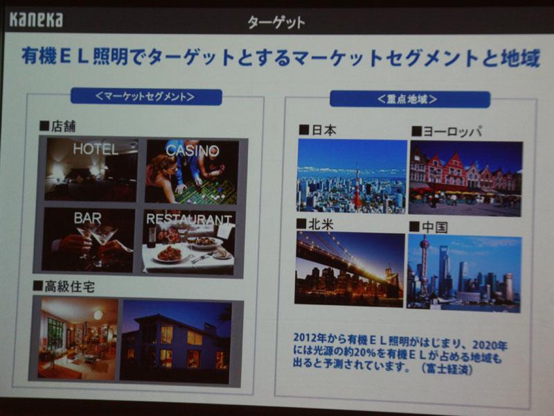 当初は店舗や高級住宅をターゲットとする。また地域では、日本・欧州を皮切りに、北米・中国も目指していく