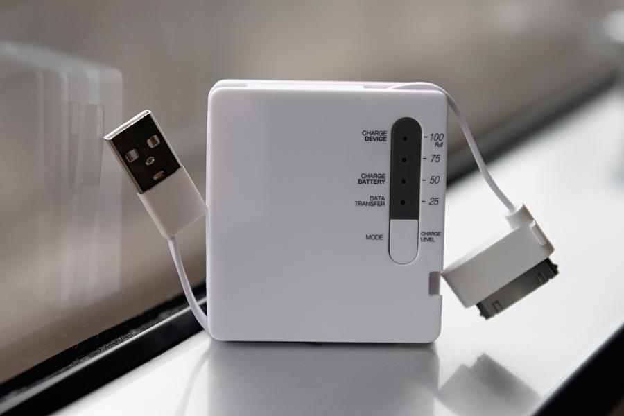 USBケーブルとDockケーブルの長さはいずれも50mm。写真ように本体内部から取り出して使用する