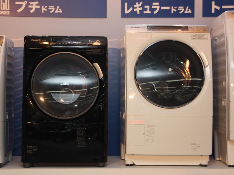 従来の「NA-VX7000」(右)に比べるとプチドラムはかなり小さい