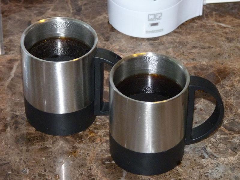 子供がいると旅行も何かと疲れるが、コーヒーを飲むとホッと一息できる