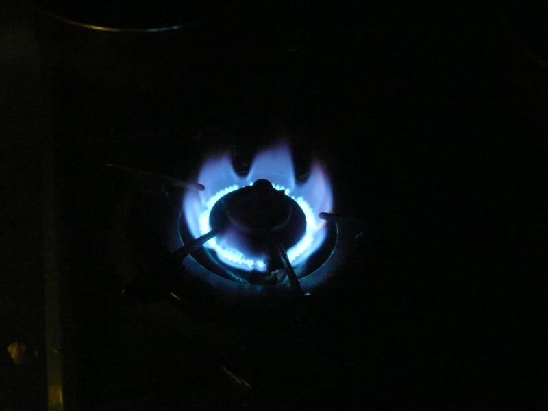 ガスは問題なく点けることができた。ただし、停電中の使用は避けた方がいいだろう