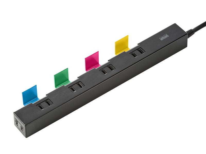 カラーバリエーションは全4種類。写真は、本体がブラックでスタンドが4色の「TAP-B41BK4」