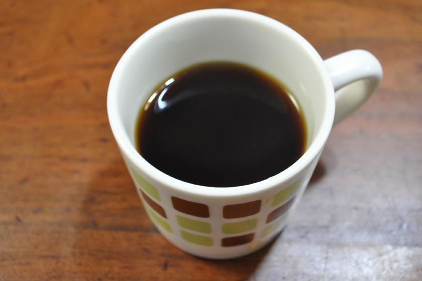 コーヒーをいれてみた。こちらは香りがよく、まろやか