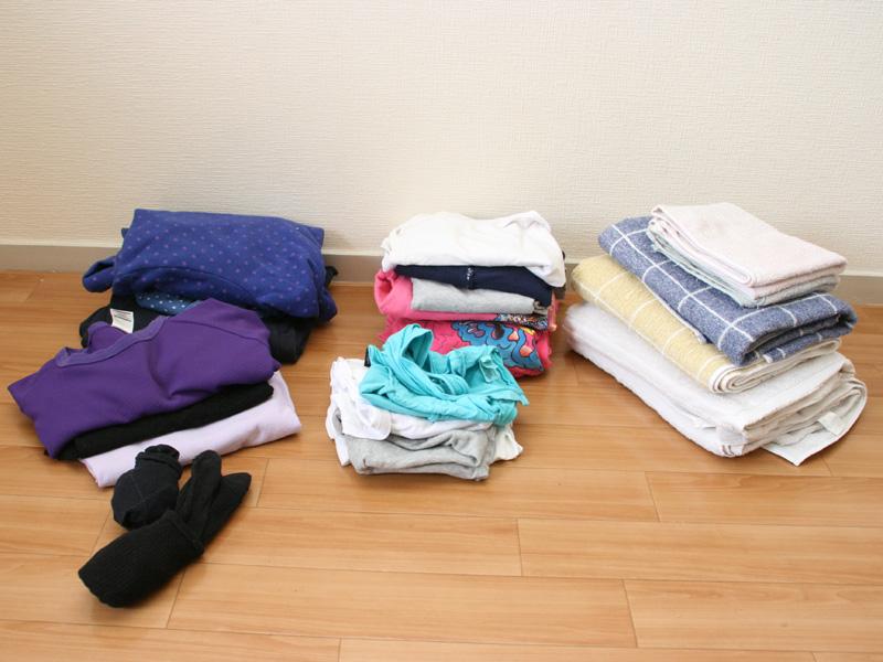 約4.5kgの衣類を並べたところ。想像以上にたくさんの衣類を乾かせる