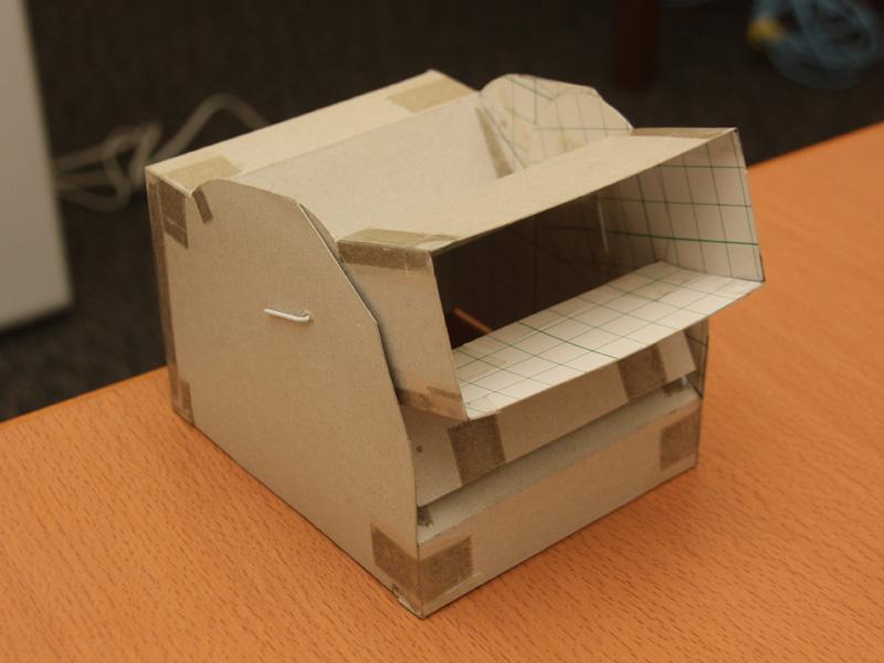 3次元広角狙えルーバーのモックアップモデル