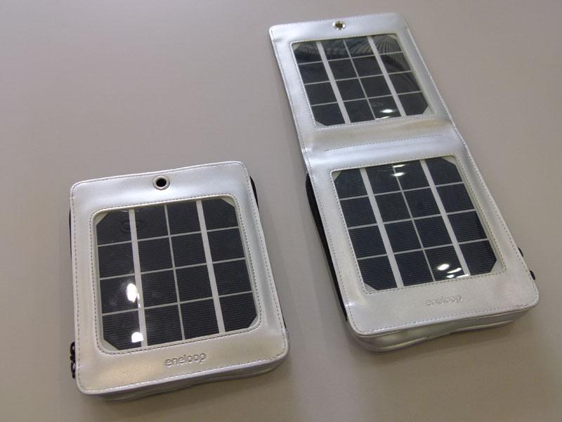 eneloop portable solar。HIT太陽電池の技術が採用されている