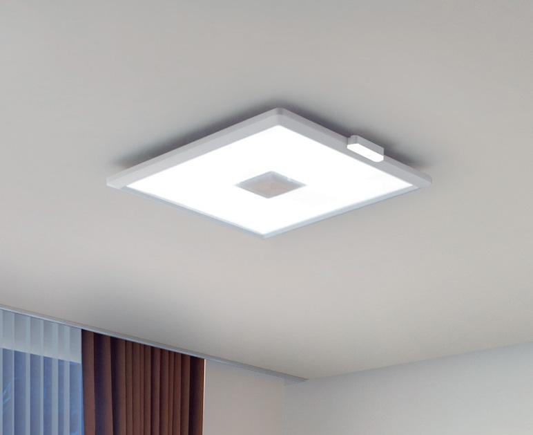 E-CORE バッテリー補助LED付きLEDシーリングライト LEDH94210H-LC。 写真は通常点灯時