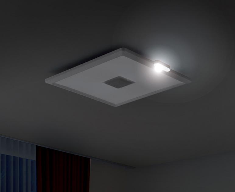 停電時は、補助灯として一部が点灯する
