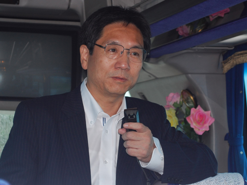 宮崎ソーラーウェイの代表取締役、前川統一郎氏