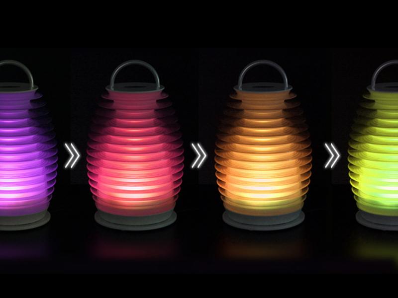 イルミネーション機能では、LEDの色がゆっくりと移り変わっていく