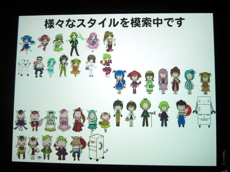 現在開発段階のため、キャラクターのイラストなどの詳細は未定という