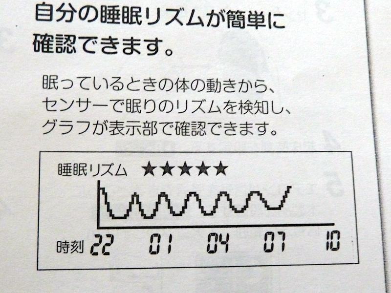 睡眠リズムを解析、グラフで表示する機能を搭載