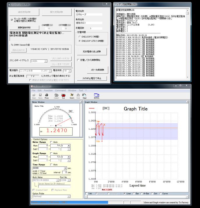 豆電球の実験に使用した装置。パソコンから豆電球のスイッチのON・OFFを制御できる。オリジナルのプログラムも搭載している