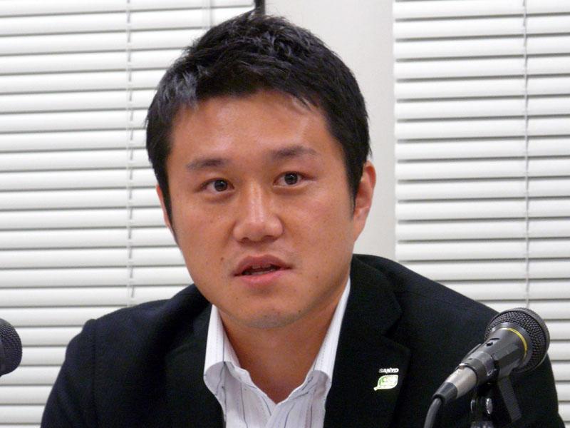 三洋電機 経営企画本部経営戦略部<br>岡崎義典担当課長