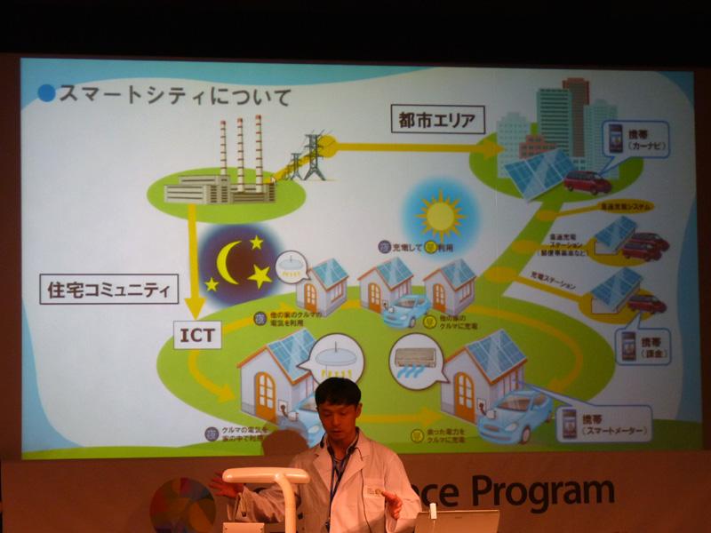 新しいエネルギーの活用として「スマートシティ」を紹介