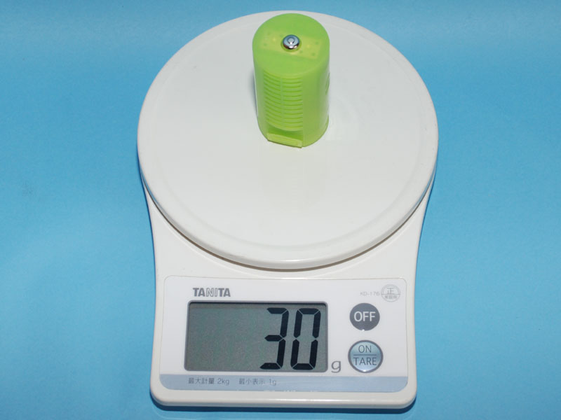 「単1のつもり」のみの重量は30g