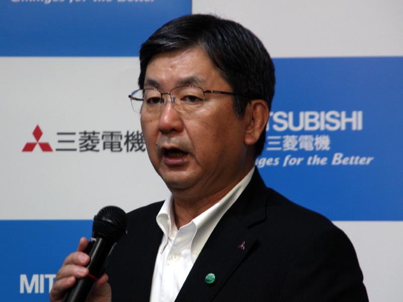 三菱電機 常務取締役 リビング・デジタルメディア事業本部 梅村博之本部長