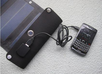 太陽光から直接充電できる
