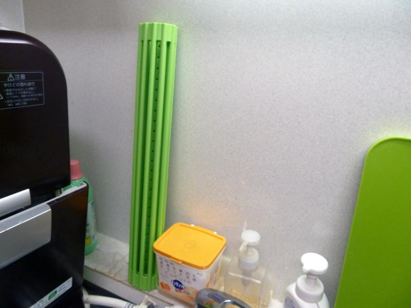 使わない時は、キッチンの壁に立てかけて置いておける