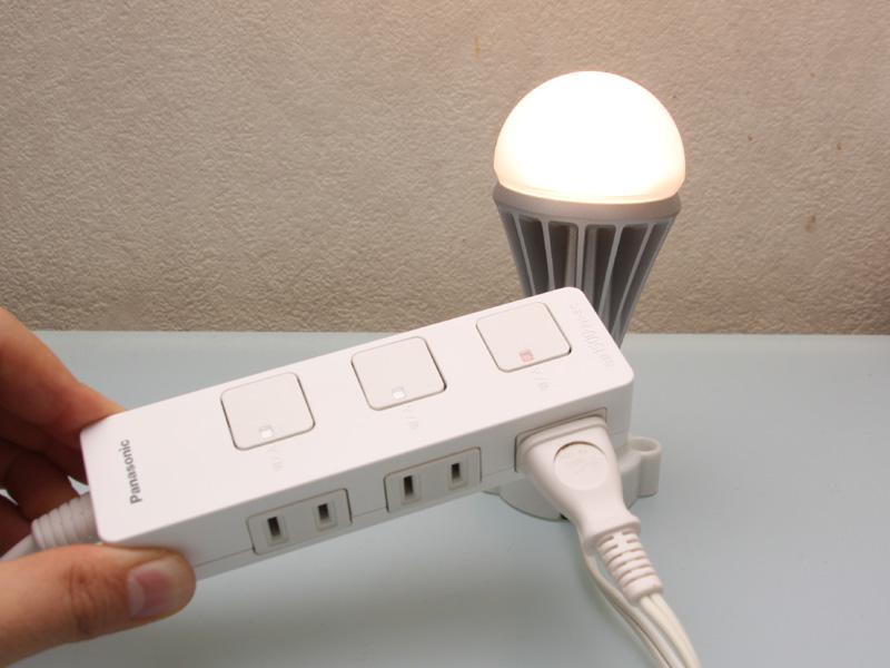 赤だと通電する。切り替えは通電スイッチを軽く押すだけ