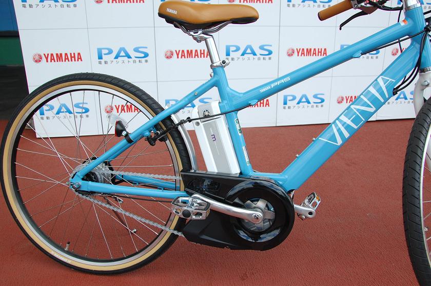 PAS VIENTAのバッテリー。コンパクトで自転車のデザインを損なわない